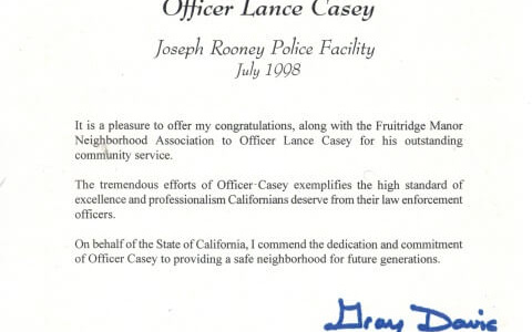 sacramento private detective commuity service award