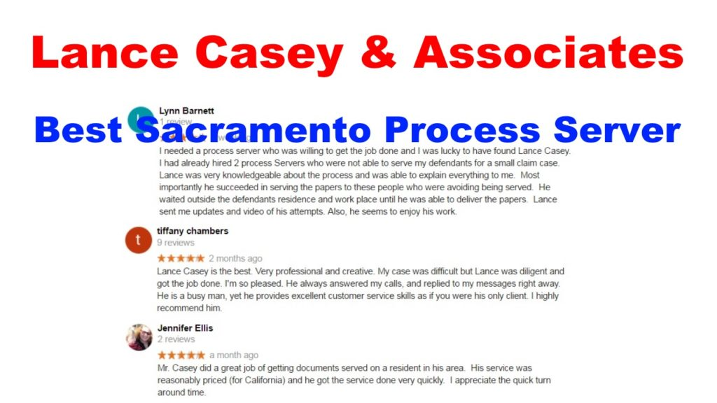 Best Process Server Davis, CA (800) 683-4769