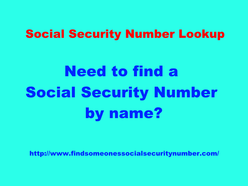 social security number lookup