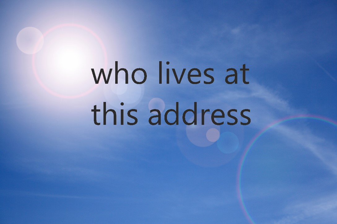 who lives at this address8