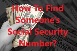 How To Find Someone's Social Security Number